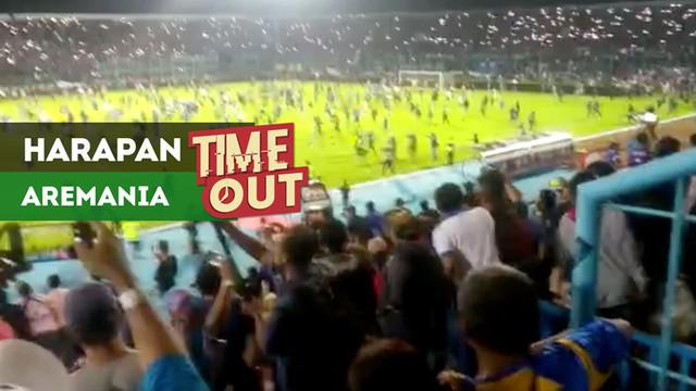 Berita video Time Out kali ini tentang harapan Aremania setelah insiden kericuhan yang terjadi pada laga Arema FC vs Persib Bandung pada pekan ke-4 Liga 1 2018.