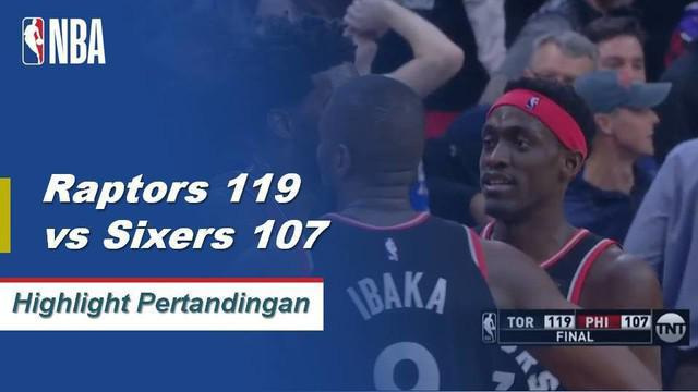 Kawhi Leonard mengumpulkan 24 poin dan tujuh rebound dalam kemenangan Toronto atas Philadelphia.