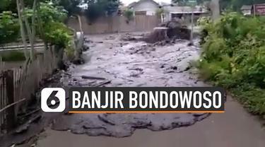 Banjir bandang melanda Desa Sempol, Bondowoso Rabu (29/01/2020) yang disebabkan hujan dengan intensitas tinggi di wilayah Gunung Suket, Jampit.