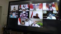 Wakil Presiden Ma'ruf Amin menggelar rapat internal dengan sejumlah menteri (Biro Pers Istana Wakil Presiden)
