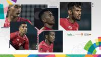 Trivia Pemain Timnas U-23 di Asian Games, Hansamu Yama, Stefano Lilipaly, Zulfiandi, Irfan Jaya, dan Beto (Bola.com/Adreanus Titus)