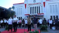 Soft launching pengoperasian KA Bandara Yogyakarta pada Jumat (27/8/2021).