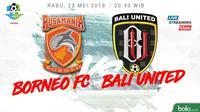 Liga 1 2018 Pusamania Borneo FC Vs Bali United (Bola.com/Adreanus Titus)