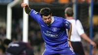 Striker Mateja Kezman saat berseragam Chelsea. (AFP/Odd Andersen)