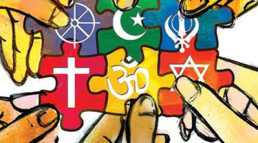 [Bintang] Ilustrasi umat beragama