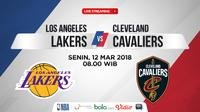 Jadwal NBA, Los Angeles Lakers Vs Cleveland Cavaliers. (Bola.com/Dody Iryawan)