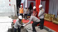 Peletakan batu pertama pembangunan Gedung Direktorat Tahanan dan Barang Bukti (Tahti), dilakukan Selasa (23/6/2020).