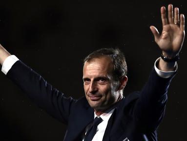 Massimiliano Allegri datang ke Juventus pada tahun 2014, Allegri datang menggantikan Antonio Conte yang pada saat itu memutuskan pergi dari Turin untuk menuju Chelsea. (AFP/Isabella Bonotto)