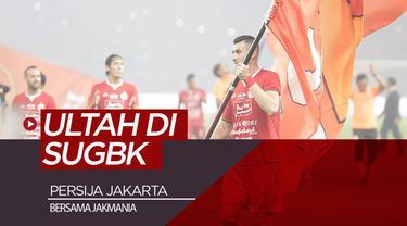 Berita video momen Persija Jakarta yang merayakan kemenangan atas Persipura Jayapura dan Ultah (ulang tahun) bersama Jakmania di SUGBK (Stadion Utama Gelora Bung Karno), Senayan, Kamis (28/11/2019).