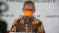 Juru Bicara Penanganan COVID-19 di Indonesia, Achmad Yurianto saat konferensi pers Corona secara Live di Graha BNPB, Jakarta, Minggu (5/4/2020). (Dok Badan Nasional Penanggulangan Bencana/BNPB)