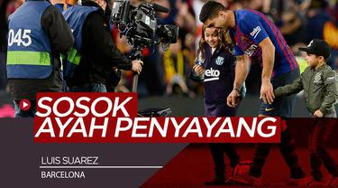 Berita Video Family Man Sejati, Suarez ajak Anak Latihan Bersama Barcelona
