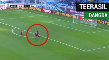 Berita video aksi striker Thailand, Teerasil Dangda, yang bisa merepotkan lawan di Piala Asia 2019.