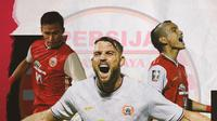 Osvaldo Haay, Marko Simic dan Riko Simanjuntak. (Bola.com/Dody Iryawan)