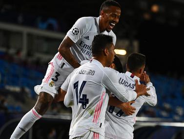 FOTO: Vinicius Junior Cetak Brace, Real Madrid Tekuk Liverpool 3-1 - Tim Real Madrid