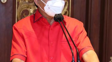 Gubernur Bali, Wayan Koster saat Jumpa Pers di Kantor Gubernur
