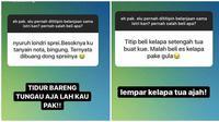 Curhatan suami salah beli belanjaan istri (Sumber: Facebook/Kementrian Humor Indonesia)