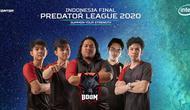 Tim BOOM Esports menjadi jawara nomor DotA 2 pada kualifikasi Indonesia Predator League 2020.  (FOTO / Acer)