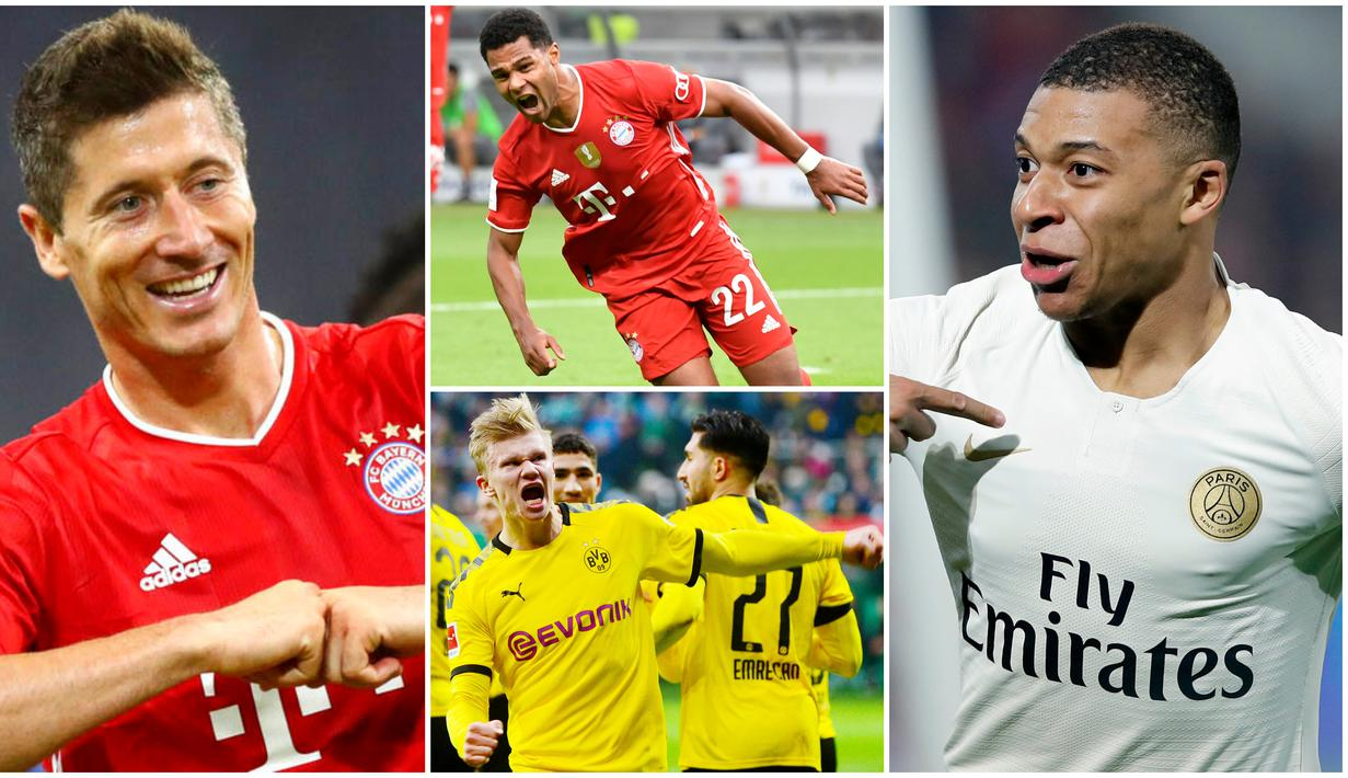 Dua gol yang disumbangkan pemain Bayern Munchen Serge Gnabry ke gawang Lyon di semifinal Liga Champions membuatnya kini menjadi pesaing terdekat Robert Lewandowski. Berikut daftar top skor sementara Liga Champions musim ini.