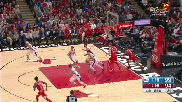 Berita video game recap NBA 2017-2018 antara Chicago Bulls melawan Philadelphia 76ers dengan skor 117-115.