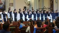 Canis Choir saat tampil di Mini Concert Gereja Katedral Jakarta,  8 Juni 2018. (Liputan6.com/Loop/Tomi)