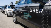Ilustrasi mobil self driving yang dimiliki Uber. Foto diambil pada September 13, 2016,  (ANGELO MERENDINO / AFP)