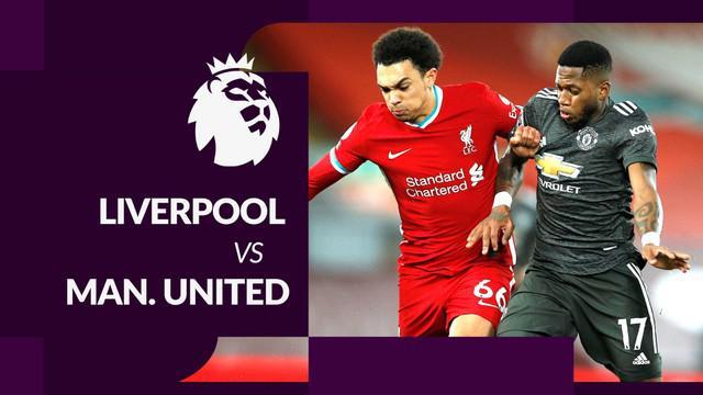 Berita motion grafis hasil Liga Inggris 2020/2021, Manchester United tahan Liverpool di Anfield.
