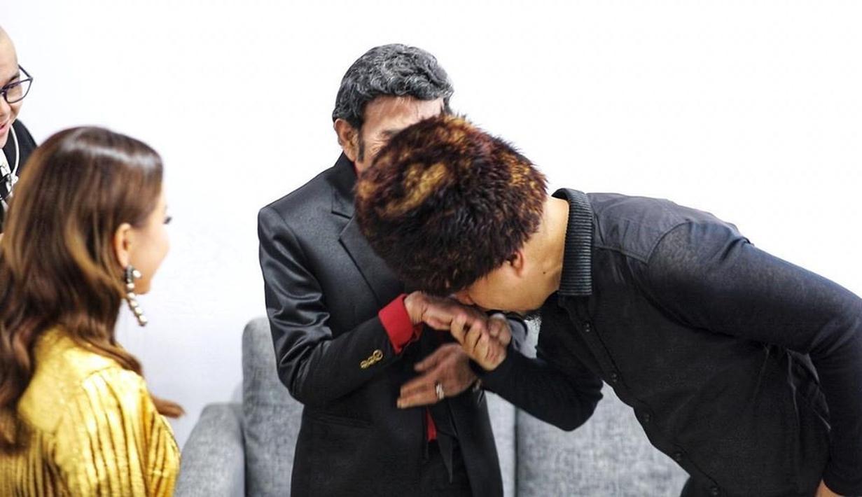 Ahmad Dhani dan Rhoma Irama (Instagram/ahmaddhaniofficial)