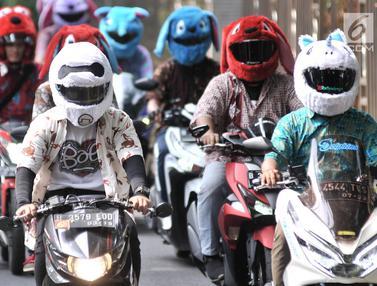 Konvoi Hari Pahlawan Bersama Pemotor Berhelm Elmo