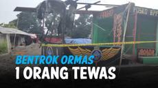 Bentrokan antara ormas Pemuda Pancasila (PP) dengan BPPKB Cianjur mengakitbatkan satu orang tewas. Bangunan posko BPPKB juga hancur karena amukan massa.