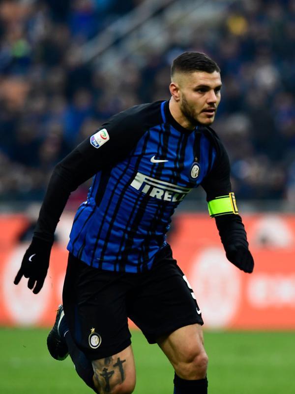 Mesin gol Inter Milan, Mauro Icardi dapat sanjungan dari bek Juventus. (AFP/Miguel Medina)