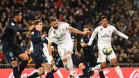 Karim Benzema berhasil cetak gol untuk Real Madrid saat lawan Sociedad (PIERRE-PHILIPPE MARCOU / AFP)