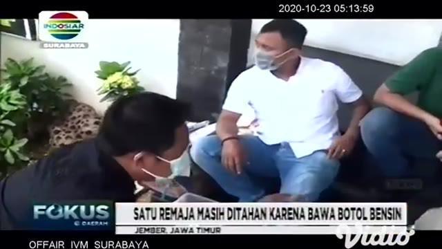 Sebanyak 182 remaja yang ditahan di Polrestabes Surabaya, saat demo menolak UU Cipta Kerja (omnibus law) di Grahadi beberapa hari lalu, akhirnya dipulangkan dan dijemput oleh orang tua masing-masing.