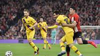 Barcelona hadapi Athletic Bilbao di partai perempatfinal Copa del Rey. (AP Photo/Alvaro Barrientos)