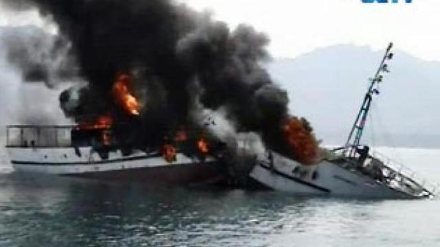 KM Sabuk Nusantara Terbakar di Laut Timor - Regional Lin6.com on