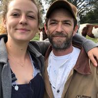 Potret Luke Perry bersama putrinya Sophie Perry. (Instagram/lemonperry)