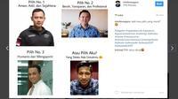 """""""Atau Pilih Aku"""" menjadi meme populer di media sosial di sela-sela Pilkada DKI 2017. (foto : Instagram.com/mtofansagara)"""