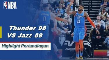 Russell Westbrook skor 23 sebagai Thunder mendapatkan kemenangan atas Jazz