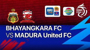 Sedang Tayang di Vidio, BRI Liga 1 Madura United vs Bhayangkara FC