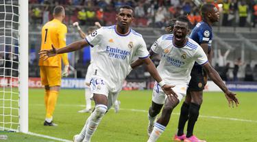 Foto: Gol Telat Rodrygo Bawa Real Madrid Taklukkan Inter Milan 1-0 di Matchday Pertama Liga Champions 2021 / 2022