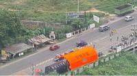 Situasi penyekatan PPKM level 4 di perbatasan Kota Jambi. (Liputan6.com/istimewa)