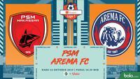 Shopee Liga 1 - PSM Makassar Vs Arema FC (Bola.com/Adreanus Titus)