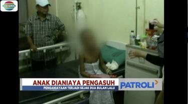 Seorang anak di bawah umur di Pekanbaru, Riau, diduga dianiaya pengasuh yang juga masih sahabat dekat ayah kandungnya.