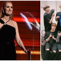 Celine Dion dan BTS (AFP/Bintang, Twitter/bts_bighit)