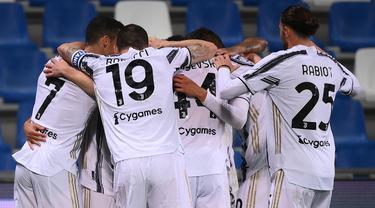 FOTO: Menang 3-1 atas Sassuolo, Juventus Jaga Asa ke Liga Champions - Tim Juventus