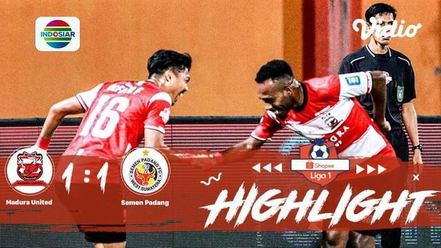 Berita video highlights Shopee Liga 1 2019 antara Madura United melawan Semen Padang yang berakhir dengan skor 1-1, Rabu (28/8/2019).