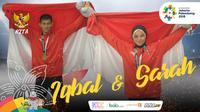 Garuda Kita Asian Games Iqbal Candra dan Sarah Tria Monita (Bola.com/Grafis: Adreanus Titus /Foto: Merdeka.com/Arie Basuki)