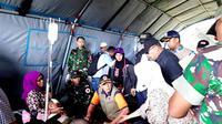 Dalam memantau korban terdampak gempa Ambon, Kepala BNPB Doni Monardo hari ini hari ini (27/9/2019) menuju RSUD dr. H. Ishak Umarella, yang mana rumah sakit tersebut tidak berfungsi karena dindingnya retak. (Dok Badan Nasional Penanggulangan Bencana/BNPB)