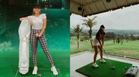 Gaya Sporty Awkarin Saat Main Golf, Curi Perhatian. (Sumber: Instagram/awkarin)