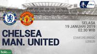 Jadwal Piala FA, Chelsea vs Manchester United. (Bola.com/Dody Iryawan)