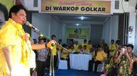 Ketua Umum Partai Golkar Airlangga Hartarto menhadiri Konsolidasi kader di Sulawesi Tenggara (Istimewa)